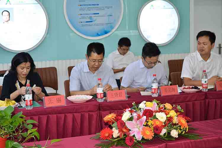 中共彭州市委书记王锋君一行考察安泰生物和欣康生物